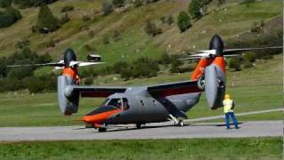 BA-609 Tilt Rotor tests at Ulrichen, Switzerland