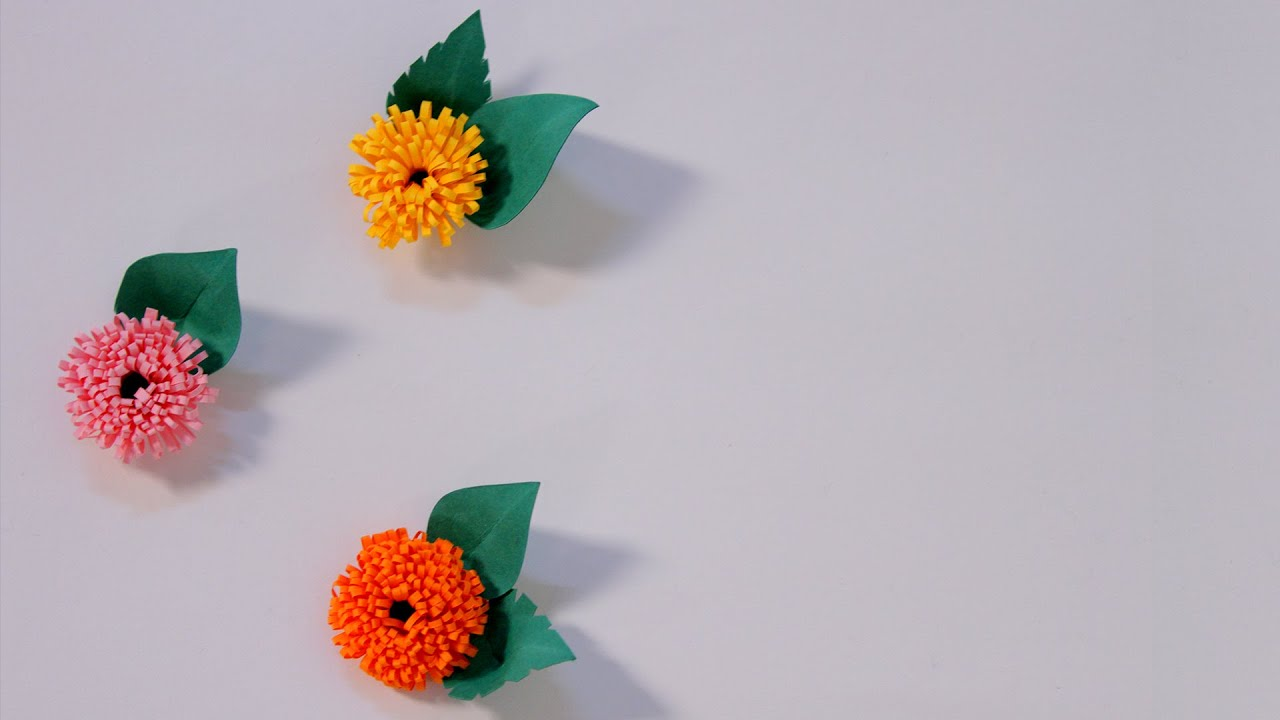 How to make quilled fringed flowers using paper art quilling diy how to make quilled fringed flowers using paper art quilling diy youtube mightylinksfo