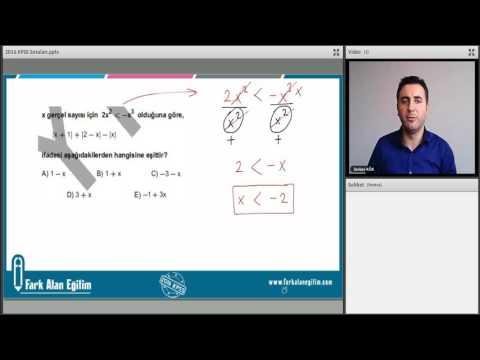 2016 kpss matematik sorularının çözümü