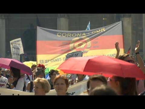 In Munich, corona skeptics demonstrate against anti-coronavirus measures   AFP