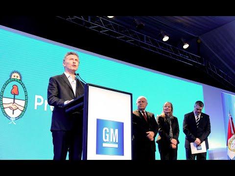 El presidente Mauricio Macri visitó la Planta de General Motors en Rosario