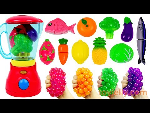 Microwave Oven Blender Baby Toys Cutting Fruits Vegetables Playset Learn Colors Kids Nursery Rhymes