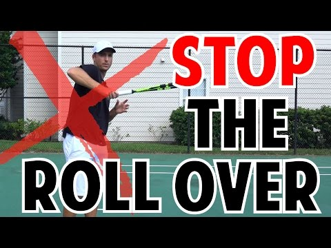 Quick Tip to Improve Tennis Forehand | No Shoulder Rollover