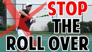 Quick Tip to Improve Tennis Forehand   No Shoulder Rollover