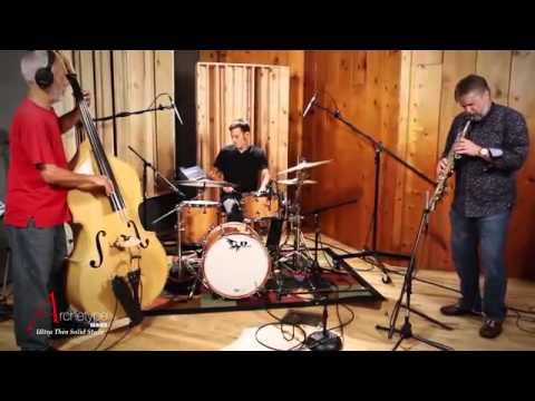 Jazz Trio with Al Sergel playing Hendrix Drums Archetype Stave Drum Kit, Satin Cherry Wood