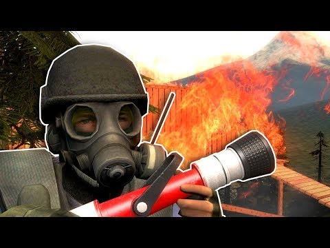OUR TREE HOUSE CAUGHT FIRE! - Garry's Mod Gameplay - Gmod Firefighter roleplay