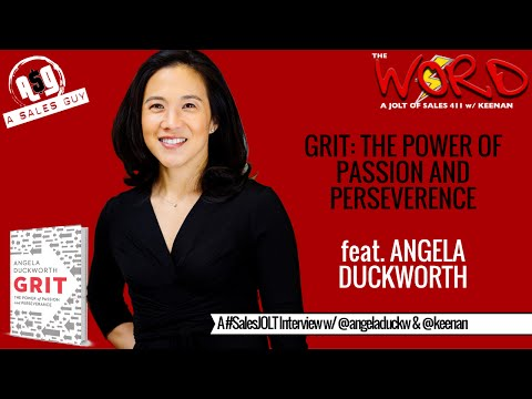 Get Gritty w/ Bestselling Author, THE Dr. Angela Duckworth #SalesJOLT Ep. 33