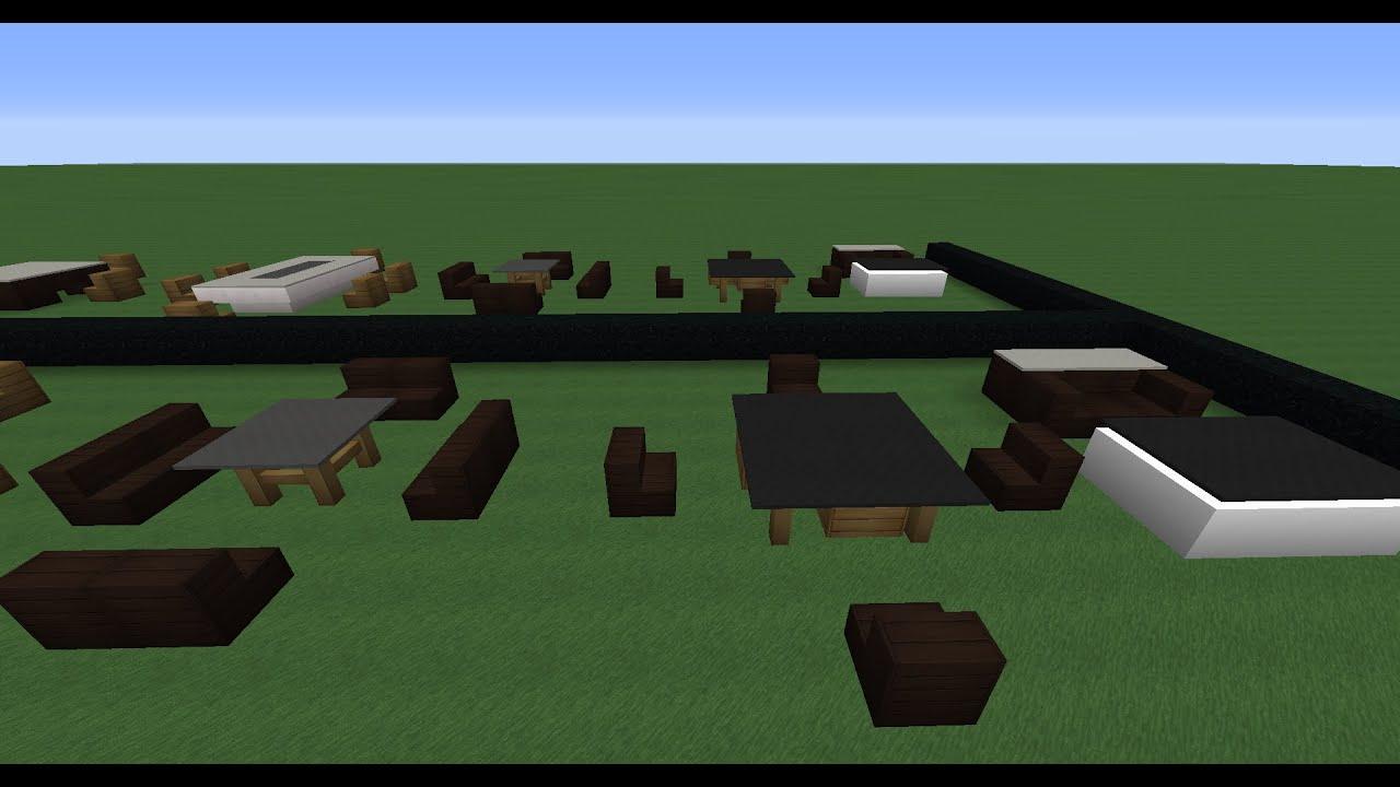 Minecraft gu a de decoraci n de casas modernas 1 mesas for Construcciones de casas modernas