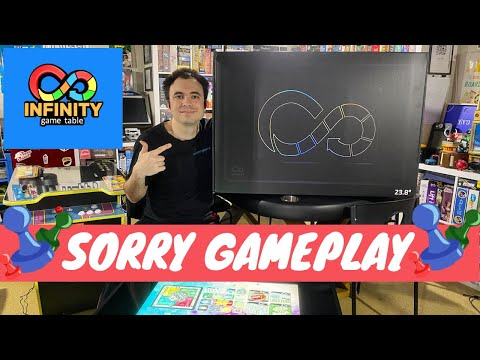 Infinity Game Table by Arcade1Up - Gameplay Showcase - Sorry Digital Board Game from UrGamingTechie