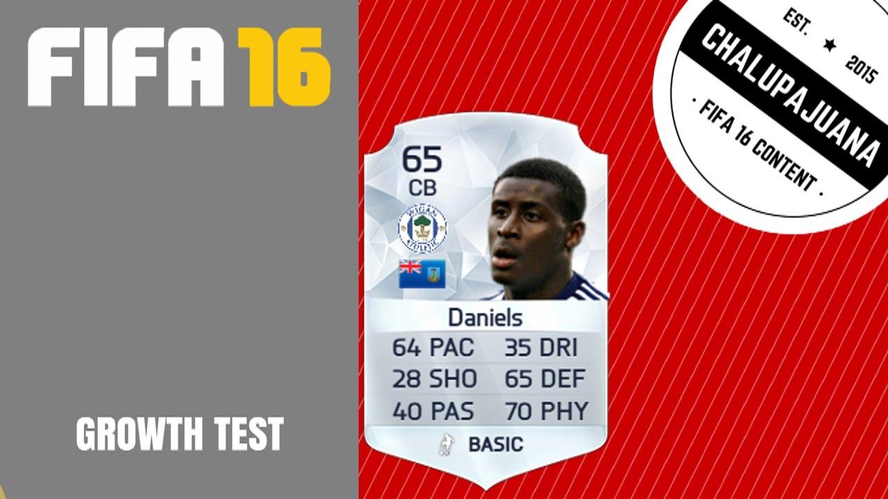 FIFA 16 | Donervon Daniels (CB/RB)| Growth Test