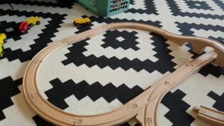 Wooden Brio Railway & Ikea Lillabo train set