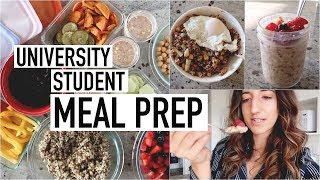 STUDENT MEAL PREP WITH ME | an attempt at adulting + what i eat
