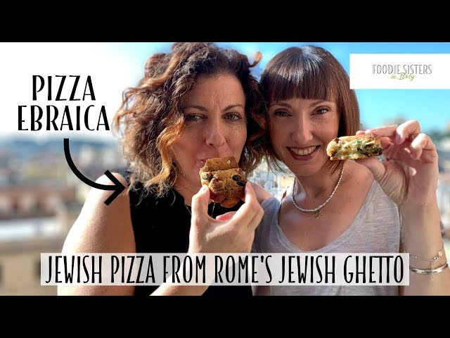 Jewish Pizza from Rome's Jewish Ghetto - Foodie Sisters in Italy