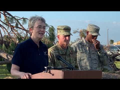 Tyndall Air Force Base press conference Sunday