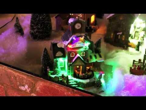 Musical Lit Christmas Village Scene