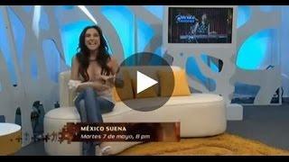 Die Moderatorin Sandra Corcuera zeigt ungewollt ihre Brüste