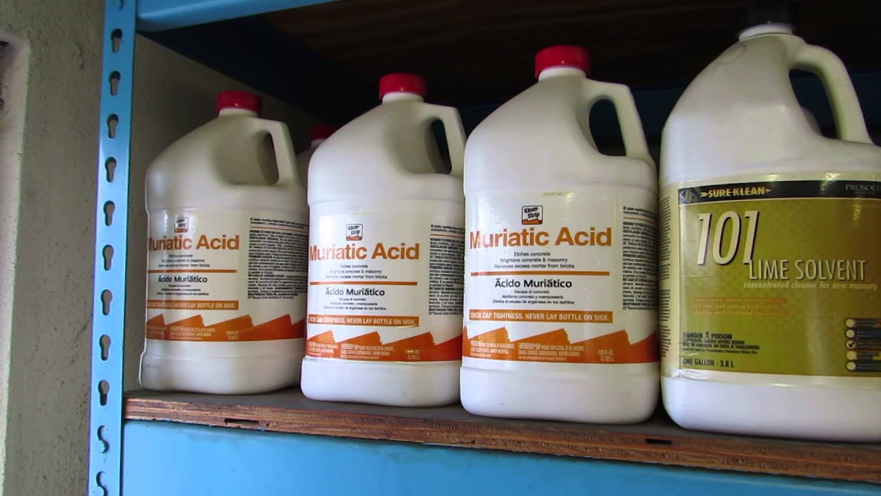 Muriatic acid for sale youtube for Hydrochloric acid used in swimming pools
