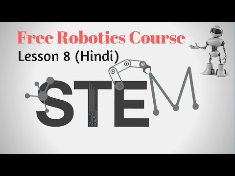 Online Robotics Course Lesson 8 (Hindi) Square Drawing Robot Program
