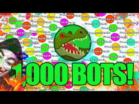 AGAR.IO HACK  - 1000 BOTS GAMEPLAY // Agar.io MINIONS HACK