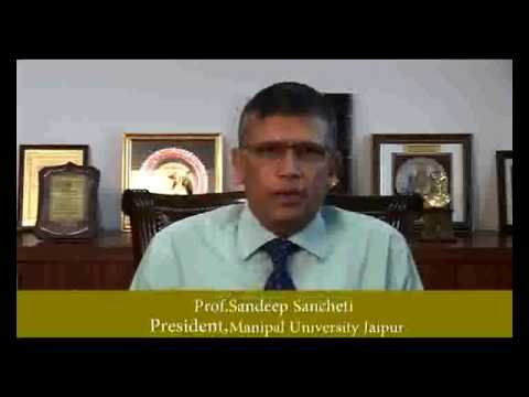 Prof.Sandeep Sancheti,[President & Vice Chancellor) Manipal University Jaipur - Interview