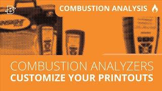 Customizing Analyzer Printouts