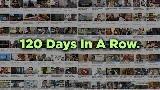 120 Days Of Vlogging In A Row. (What I