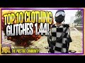 GTA 5 Online (NEW) TOP 10 CLOTHING GLITCHES 1.44/1.45! *Duffel bag & More!* BEST ''Top 10 Glitches''