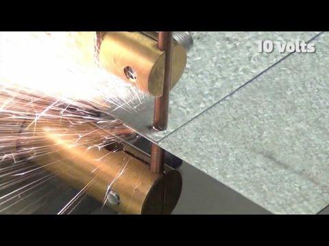 Cварка оцинкованных листов толщиной 1.2мм аппаратом Linear DC
