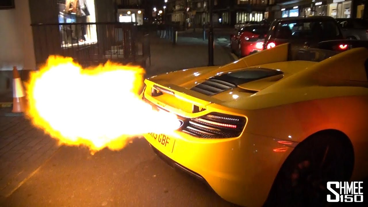 Mclaren 12c Is A Super Flamethrower To The Max Youtube