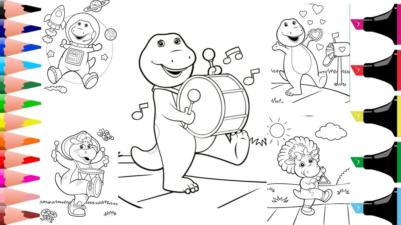 - Colouring Barney And His Friends Colouring For Kids Colouring