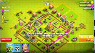 CLASH OF CLANS - LEVEL 8 ARCHER TOWER & LEVEL 2 BARBARIAN KING VS LEVEL 1 BARBARIAN KING.