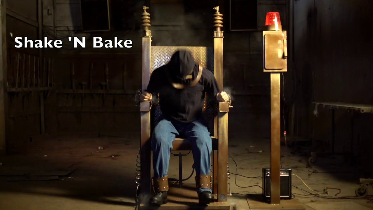 Electric Chair Animatronic Shake 'N Bake Extreme Haunt Prop by Distortions