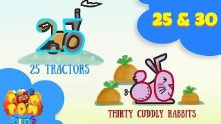 Hoạ Sĩ Siêu Xịn - Vẽ Số Biến Hình - Số 25, 30 - Tractor & Rabbit - POMPOM4kids