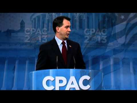 CPAC 2013 - Governor Scott Walker (R-WI)