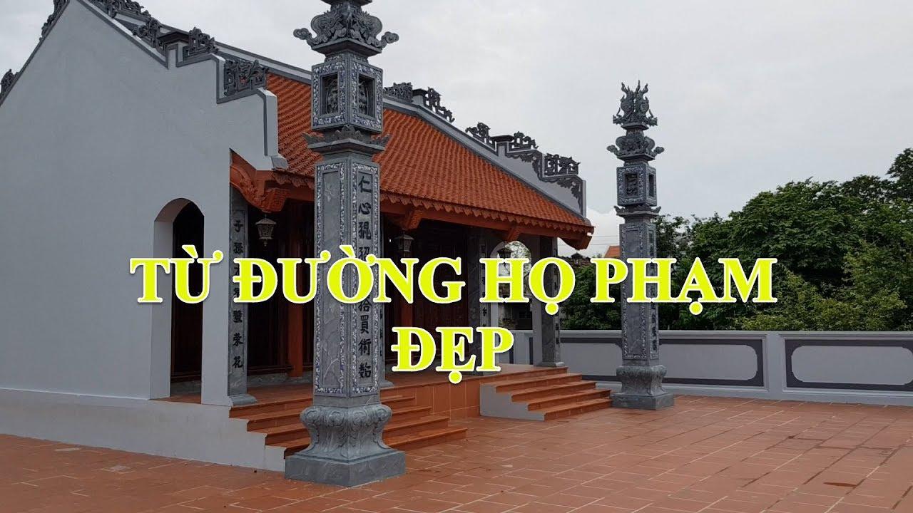 Mẫu Từ Đường-Nhà Thờ Họ Đẹp Họ Phạm Diện Tích 7.7×6 5m Tại Ninh Bình