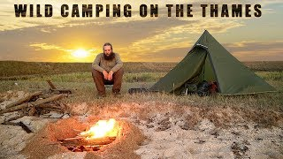 Wild Camping On A Thames River Beach