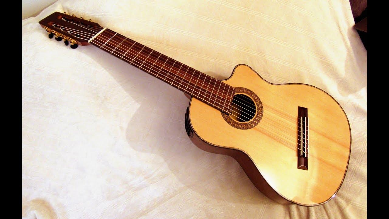 8 string nylon fanned fret guitar review agile instruments youtube. Black Bedroom Furniture Sets. Home Design Ideas