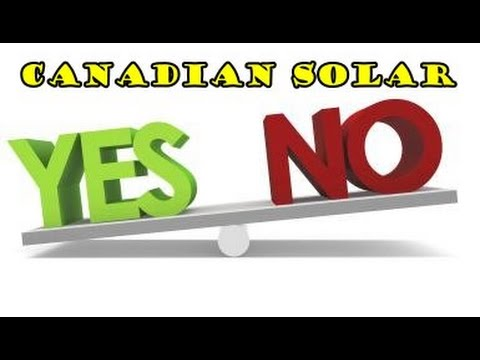 My Canadian Solar Panel Details
