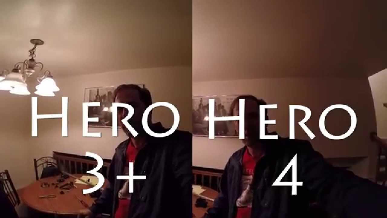 GoPro Hero 3+ vs. Hero 4 Low light comparison u0026 sound side by side comparison & GoPro Hero 3+ vs. Hero 4 Low light comparison u0026 sound side by side ... azcodes.com