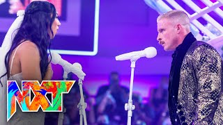"""Dexter Lumis says """"I Do"""" to Indi Hartwell at the InDex Wedding WWE NXT, Sept. 14, 2021"""