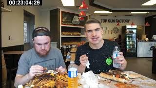 Toronto's BIGGEST Burger Challenge! 10,000+ Calories   Man vs Food   Undefeated 2019