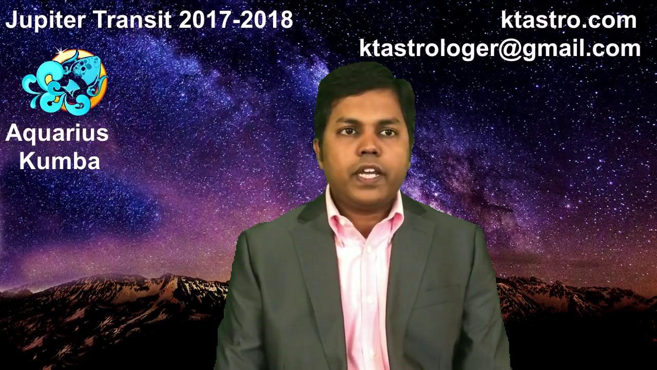 Jupiter transit 2017 2018 for aquarius kumbha rasi guru peyarchi gochar