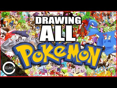 Drawing all 721 pokemon youtube