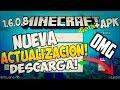 Descarga nueva actualizaciÓn! minecraft pe 1 6 0 8 + review descarga mcpe 1 6 0 8 ! sin licencia android