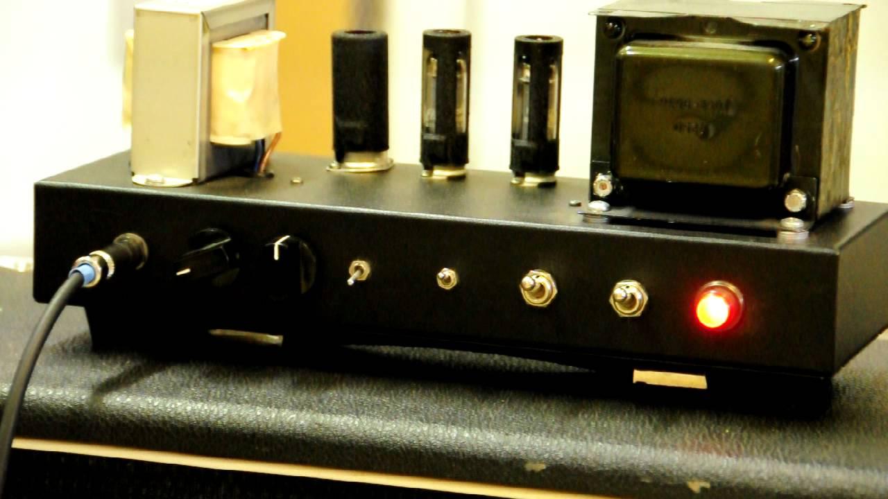 Single Ended Dual 6aq5 Hand Built Guitar Amplifier