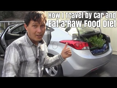 How I Travel by Car & Eat a Raw Food Diet + Produce Shopping