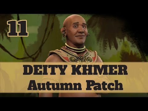 Civ 6 Khmer 11 Let's Play - Jayavarman Religious Relics Victory on the Autumn Patch