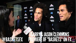 "Garry & Jason Clemmons at the premiere of FX's new Clown Comedy ""Baskets"" #BasketsFX"