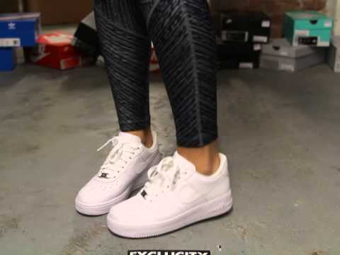 Womens Air Force 1 07 White On Feet Video At Exclucity Youtube