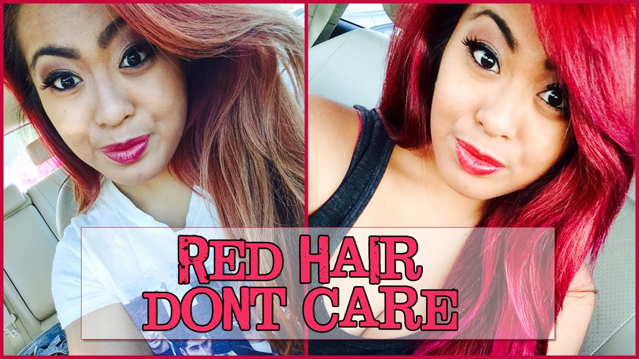 Red Hair, Don't Care || How to Turn Dark Hair into Bright ...